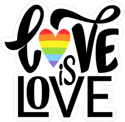 Love Is Love Cursive Sticker