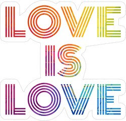 Love Is Love Rainbow Fade Sticker