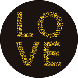 Love Made Of Paw Prints Sticker