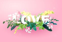 Love Spring Flowers Sticker