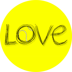 Love Tennis Symbol Sticker