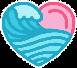 Love with the Sea Sticker