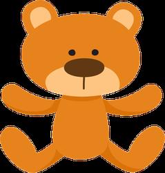 Lovely Brown Teddy Bear Toy Sticker