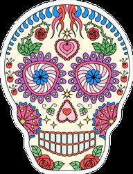 Lovely Sugar Skull Sticker