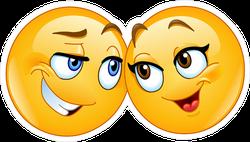 Loving Emoji Couple Sticker