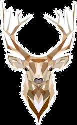 Low Poly Deer Sticker