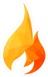 Low Poly Flames Sticker