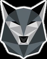 Low Poly Grey Wolf Sticker