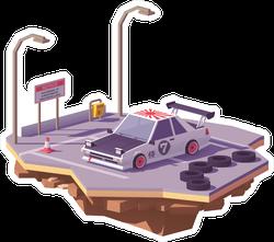 Low Poly JDM Car Sticker