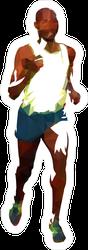 Low Poly Running Man Sticker