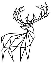 Lowpoly Deer Outline Sticker