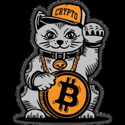 Lucky Cat Bitcoin Sticker