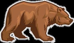 Lumbering Brown Bear Sticker