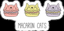 Macaron Cats Sticker