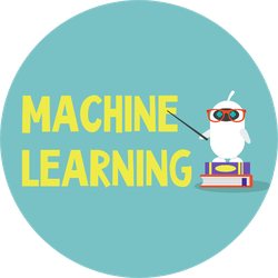 Machine Learning Concept Cartoon Robot Sticker