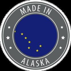 Made In Alaska Icon Stamp Sticker