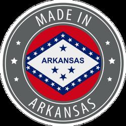 Made In Arkansas Icon Round Sticker