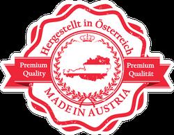 Made In Austria Premium Quality Seal Sticker