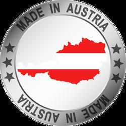 Made In Austria Silver Frame Circle Sticker