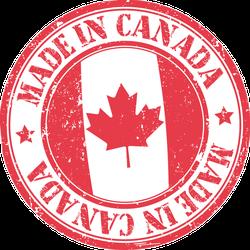 Made In Canada Stamp Sticker