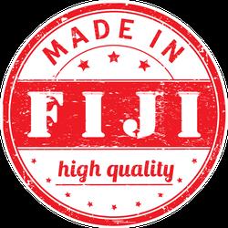 Made In Fiji Rubber Stamp Sticker