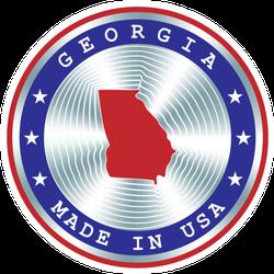 Made In Georgia Usa Seal Sticker