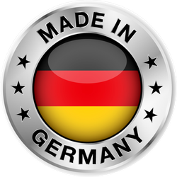 Made In Germany Silver Badge Sticker