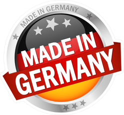 Made In Germany Silver Button Sticker