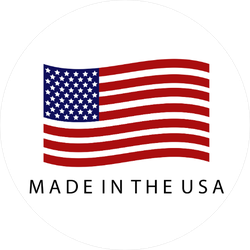 Made In The USA Flag Circle Sticker
