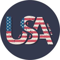 Made In The USA Typography Sticker