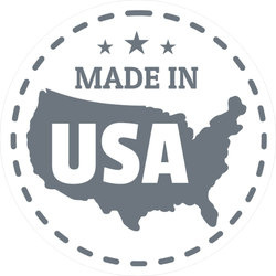 Made In USA Country Dash Circle Sticker
