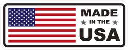 Made In USA Flag Rectangle Sticker
