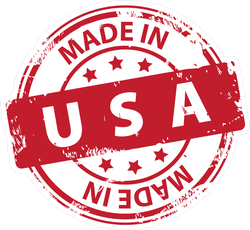Made In USA Rubber Stamp Sticker