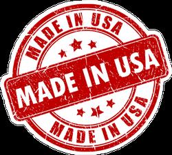 Made In USA Stamp Sticker