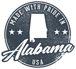 Made With Pride In Alabama USA Sticker