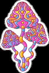 Magic Psychedelic Mushrooms Hippie Sticker