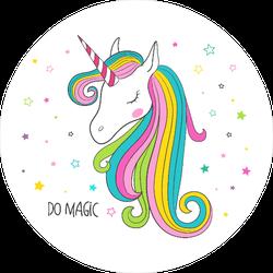 Magical Unicorn Head Sticker