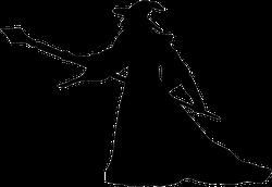 Magician Wizard Silhouette Sticker