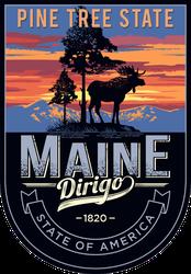 Maine Banner Sticker