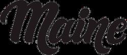 Maine Calligraphy Sticker