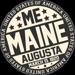 Maine Decorative Stamp Sticker