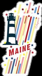 Maine Lighthouse Sticker