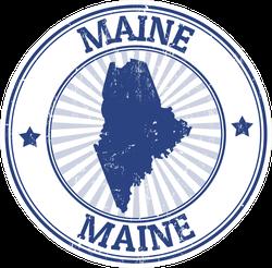 Maine Rubber Stamp Sticker