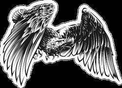Majestic Black and White Eagle Sticker