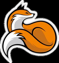 Majestic Fox Mascot Sticker