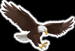 Majestic Hunting Eagle Sticker