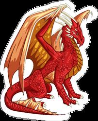Majestic Red Dragon Sticker