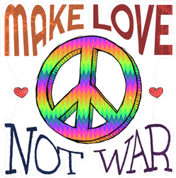 Make Love Not War Hippie Peace Sticker