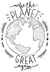 Make The Planet Great Again Sticker