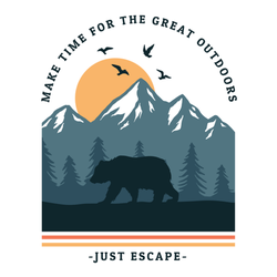 Make Time For The Great Outdoors Sticker